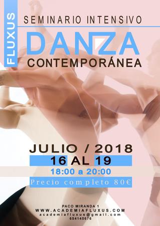 CURSO INTENSIVO DE VERANO DE DANZA CONTEMPORÁNEA - JULIO
