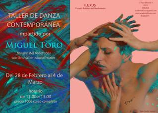 CURSO DE DANZA CONTEMPORÁNEA CON MIGUEL TORO
