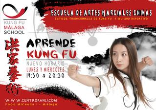 Nuevo horario de Kung Fu adultos