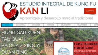 Kan Li estrena página Web