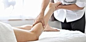 Massaging leg