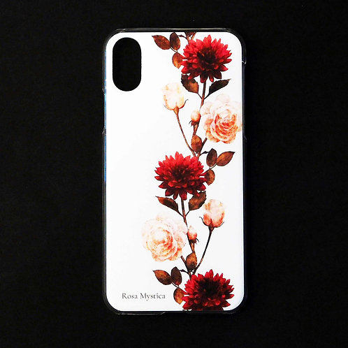 《Rosa Mystica》i-phoneケース/レッドダリア&ローズ※各機種対応