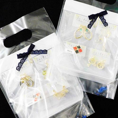 《Saidori》3種類から選べるイヤリングセット※総額¥8000相当
