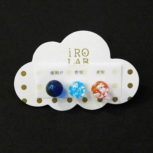 《IRO LAB》夜明け/青空/夕空3点セットピアス/イヤリング