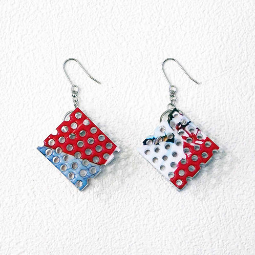 《Re:flection》Small Wafersピアス/イヤリング※red white