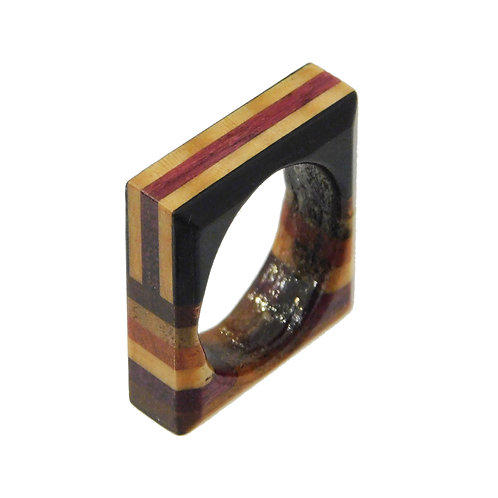 《BOSK》Stripe Ring / Square ※送料無料
