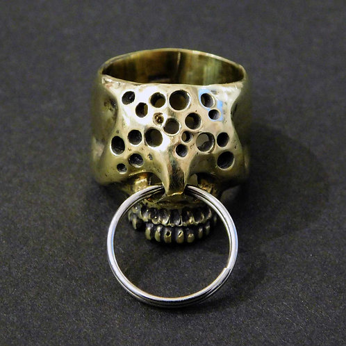 《Farimu》hole skull ring brass/16-17号※送料無料