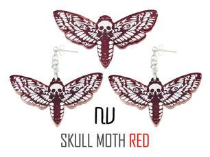 赤いモス=蛾のアクセサリー