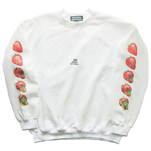 "《INC NOXXX SCREAMING》ROTTEN ROOTS ""Strawberry"" wide sweat"