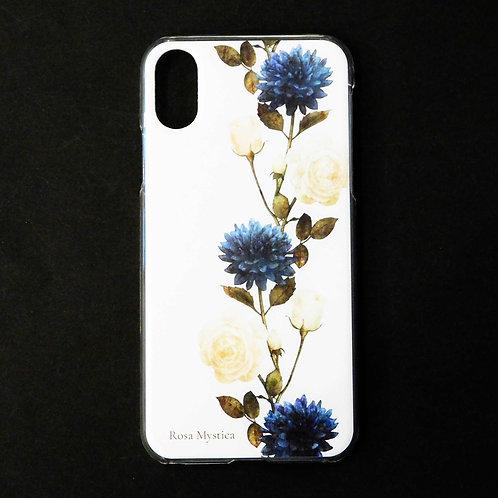 《Rosa Mystica》i-phoneケース/ネイビーダリア&ローズ※各機種対応