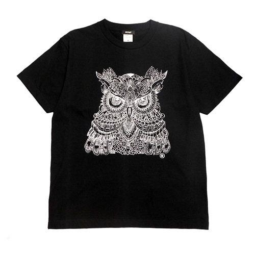 ラヴェル梟Tシャツ(黒)