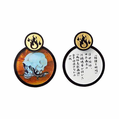 《ZOKUZOKU》髑髏と蜥蜴ピアス/イヤリング