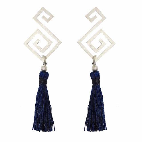 《Stellano》2way Svastika Earrings/BLUE※送料無料
