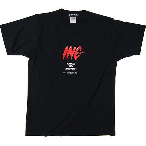 《INC NOXXX SCREAMING》INC LOGO T-shirt / BLACK