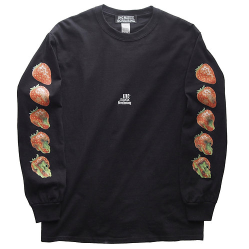 """《INC NOXXX SCREAMING》ROTTEN ROOTS """"Strawberry"""" long sleeve T-shirt"""