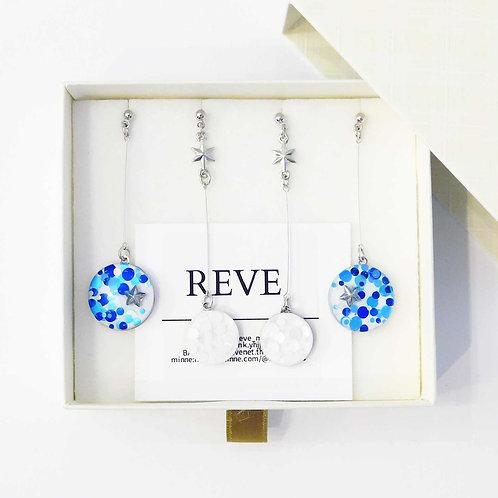 《REVE》エトワールコレクションピアス/イヤリング4点セット※WHITE