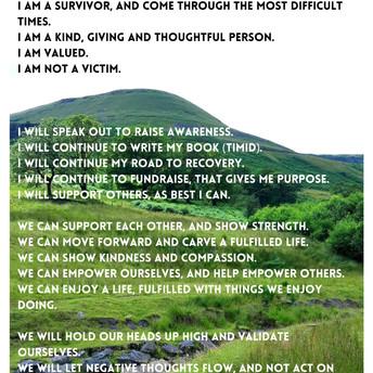 I am • I can • We are • We Will • Dwi yn • Dwi'n gallu • Rydym ni yn •Rydyn ni'n gallu Poem/Cerdd and image/delwedd by P