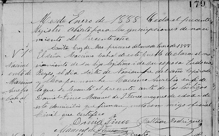 Acta de Registro Maximo Aurelio Cabral R