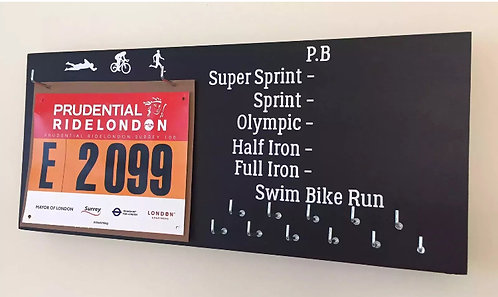 PERSONALISED Triathlon / Cycling PB Hangers