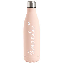 Personalised Nude Double Wall Flask Bottle