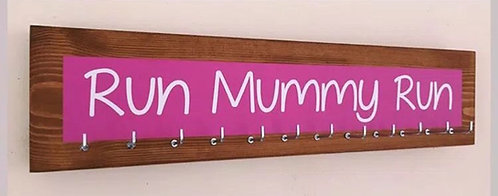 Medium 12 Hook colour splash. Pink. run Mummy run