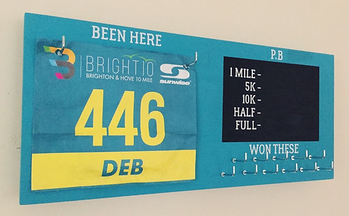 Full Colour PB Bib and Medal Hanger