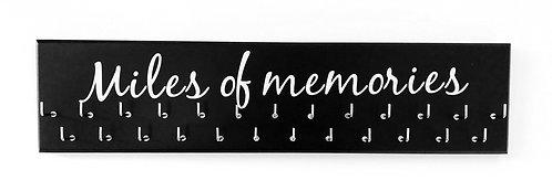 Miles of Memories. Black. Medium hanger 25 hooks