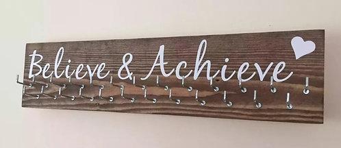 Believe & Achieve. Rosewood Medium Hanger 25 Hooks