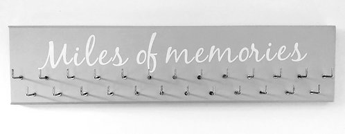 Miles of Memories. Grey. Medium hanger 25 hooks