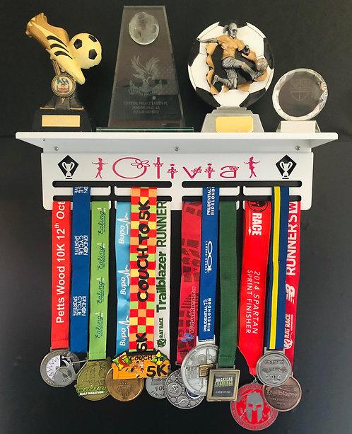 White Metal Trophy Shelf