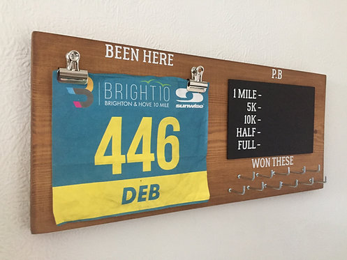 Natural Wood Stain. PB Bib and Medal Hangers
