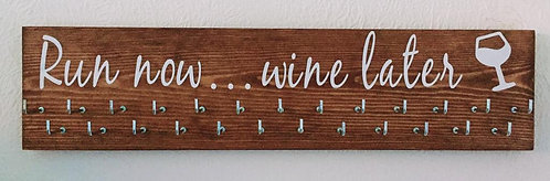 Run now ... wine later. Rosewood stained Medium Hanger 25 Hooks