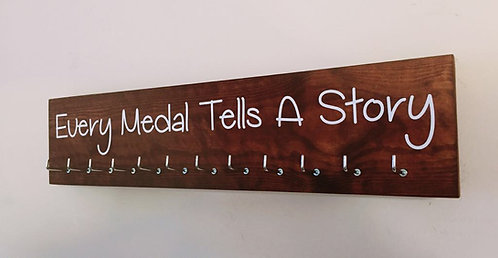 Every Medal Tells A Story. Rosewood Medium Hanger 12 Hooks