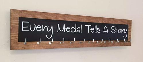 Medium 12 Hook colour splash. Black. Every Medal Tells A Story