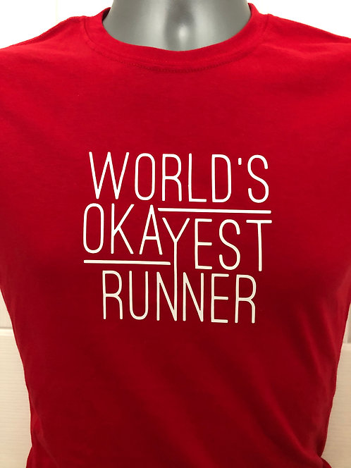 World's Okayest Runner Ladies T Shirt