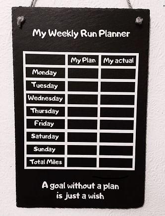 Weekly Run Planner