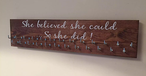 She believed she could ... So she did ! BlackJack font. Rosewood Medium 25 Hooks