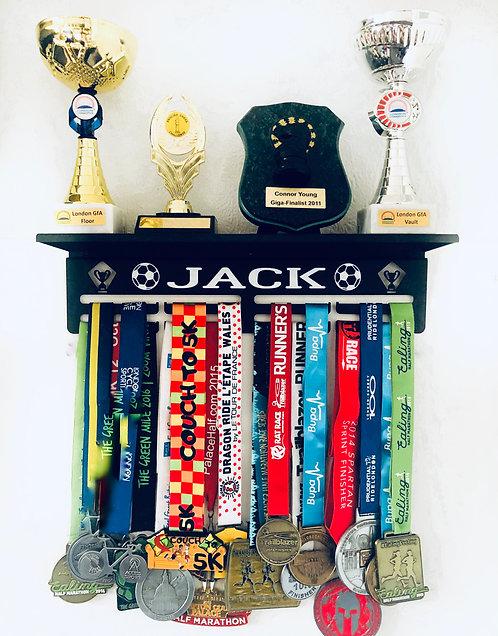 Black Metal Trophy Shelf