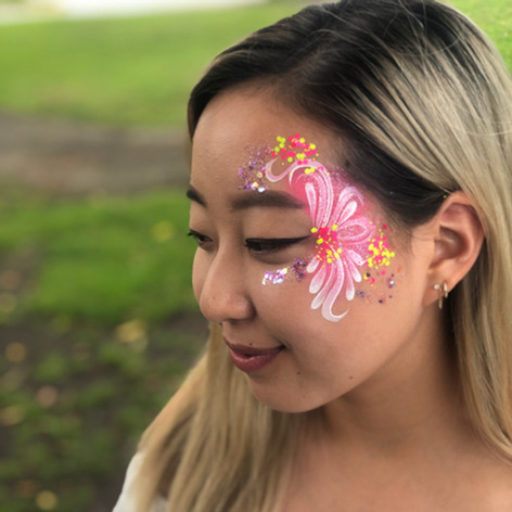 Wedding glitter art
