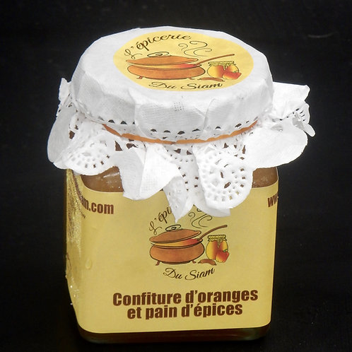 Confiture d'orange et pain d'épices 240 g