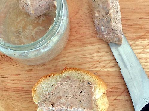 Terrine de porc aux foies de volailles en bocal  175 g net
