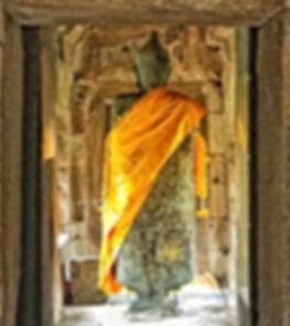 Statue dans un temple khmer en Isaan