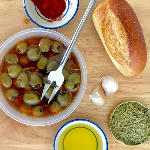 """Olives vertes marinées """"apéro"""" 165 g net"""