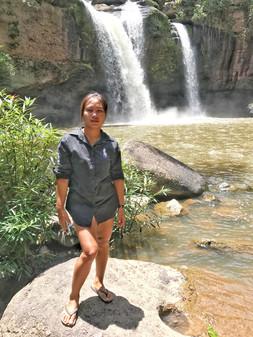 vue sur une cascade à Khao-yai en Thailande