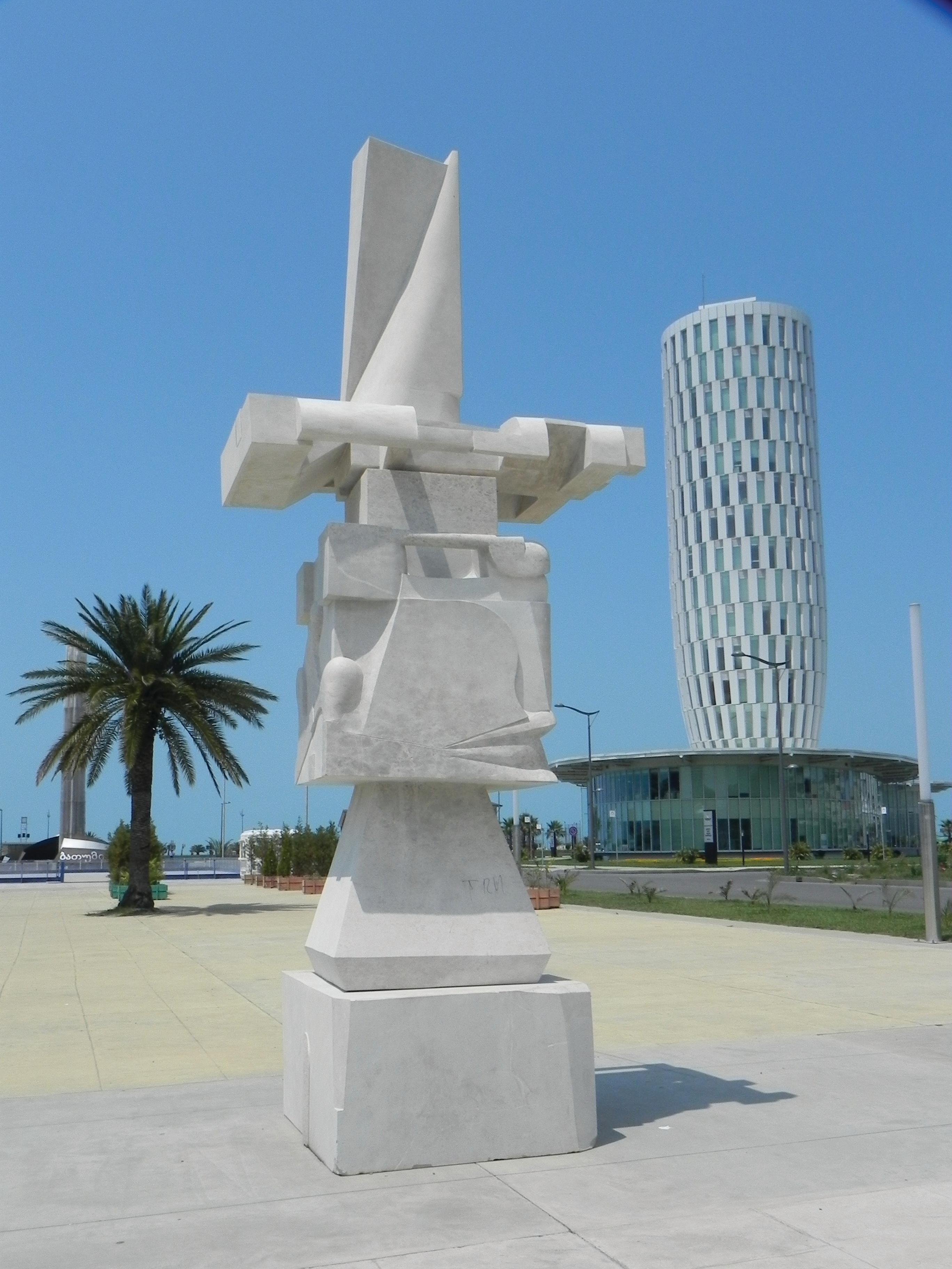 Life Pillar, marble, 560x230x160cm  ,Bat