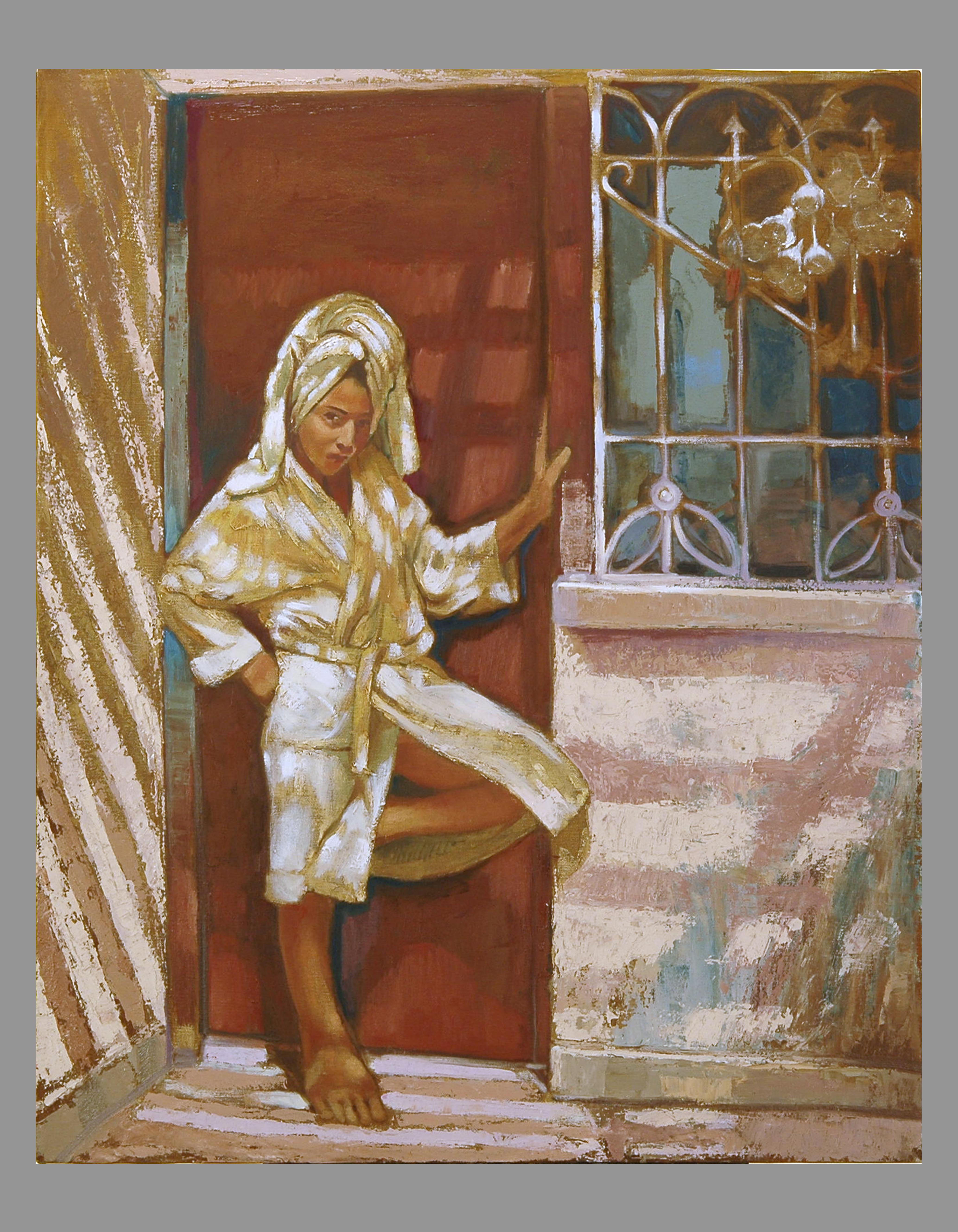 Young girl in the doorway