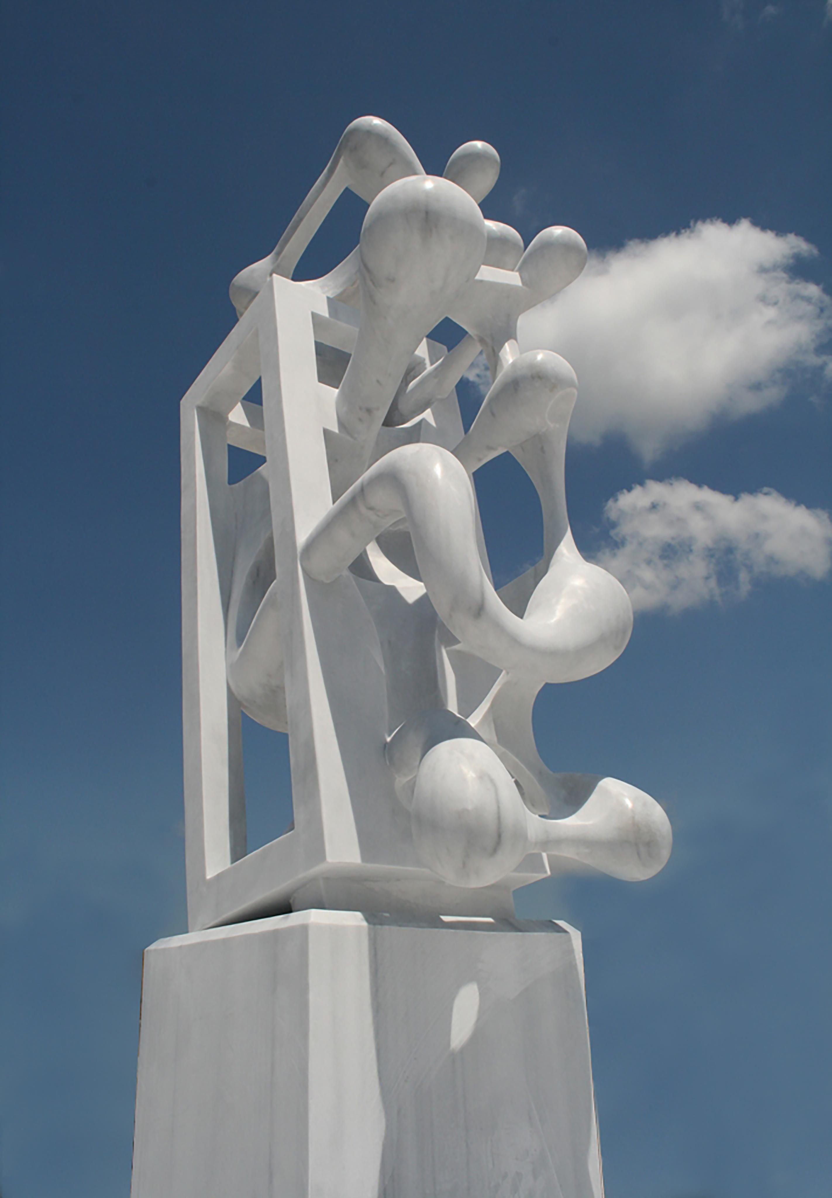 Firework, 340x130x90cm, white  marble, 2