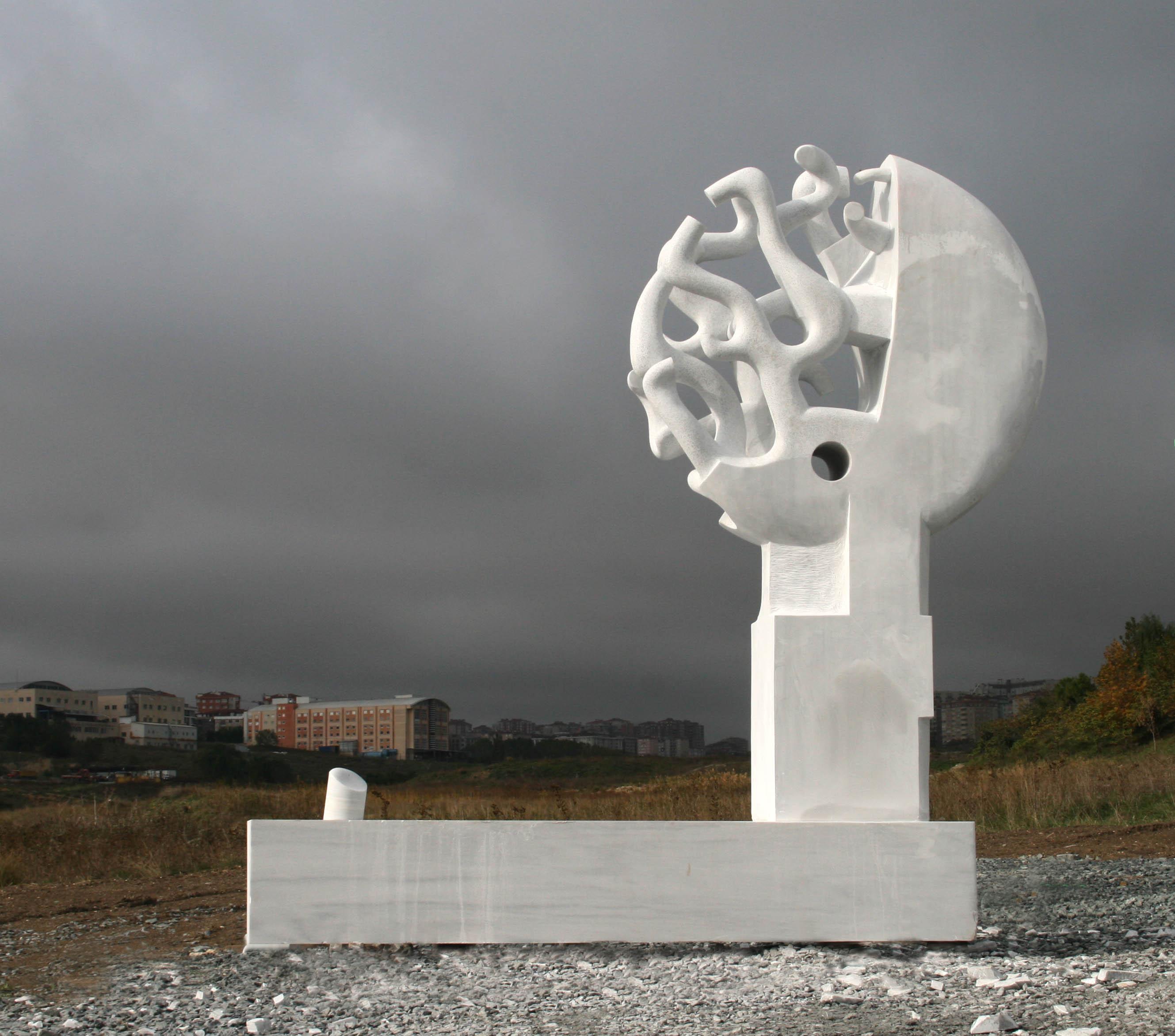Life pillar, marble, 350x250x150cm, 2014