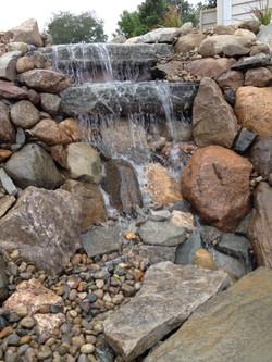 Natural waterfall look
