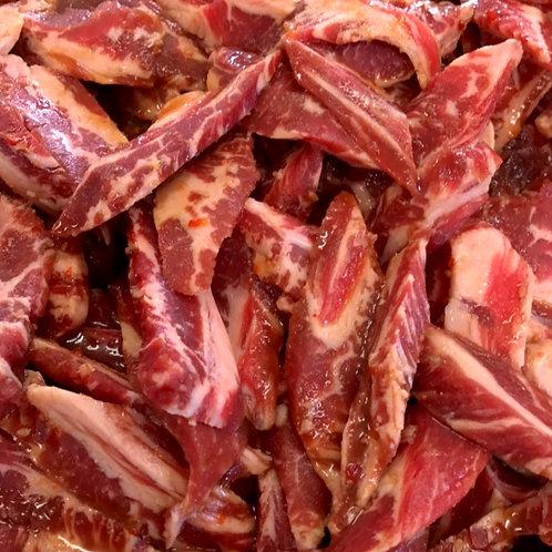 牛中落ちカルビ焼肉用味付(アメリカ産)100g